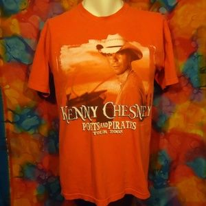 Kenny Chesney - 2008 Tour - T-shirt - Red/Pink - M